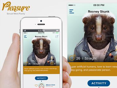 Pleasure iPhone App (concept) pleasure iphone app application mobile flat