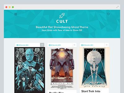 Cult Ghost Theme cult ghost ghost theme flat clean showcasing grids