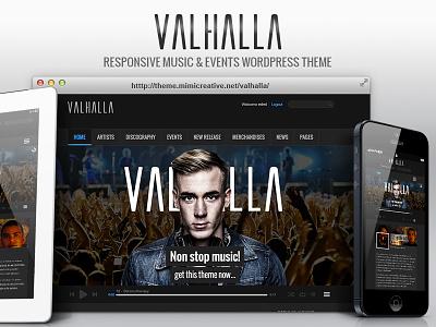 Valhalla Wordpress Theme valhalla website wordpress theme wordpress music theme ui user interface