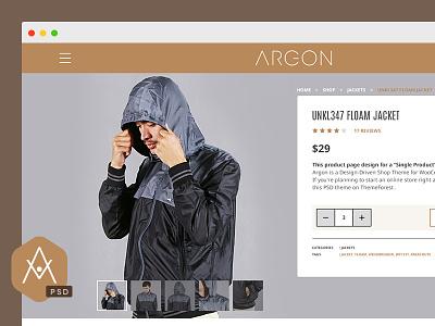 Argon PSD Template ui psd template website template psd argon contemporary modern brown