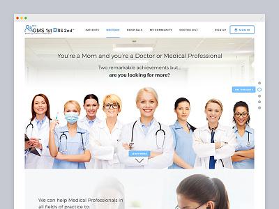 Landing Page ui website landing page medical website clean