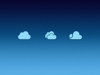 Cloud Glyphs Icons