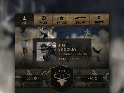 Hunter Profile ios profile hunting pitch wood camo