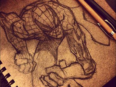 Spidey Sketch comics comic book spiderman marvel superhero sketch