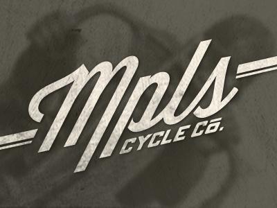 Minneapolis Cycle Co. Logo texture motorcycles lost type logo