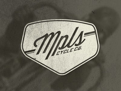 Mpls Cycle Co. Logo - 2 texture motorcycles lost type logo