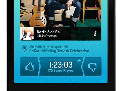 Simple music app concept. music iphone ios