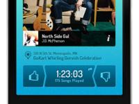 Simple music app concept.