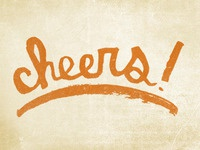 Cheers lettering