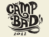 Camp Bad lettering
