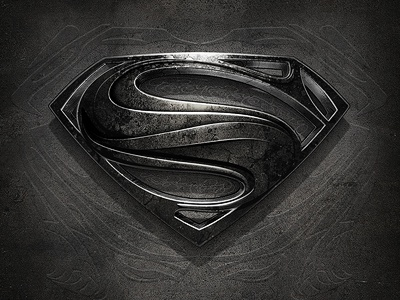 Man of Steel (more depth) 3d gray superman design
