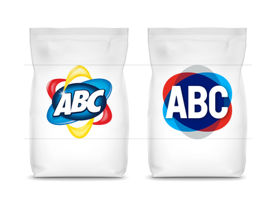 Better legibility & readability in the same size package design packaging typography abc detergent branding logotype