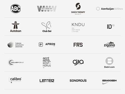 23 logos / 2003-2020 type antrepo a2591 design identity collection logo brand identity branding lettering typography monogram logotype