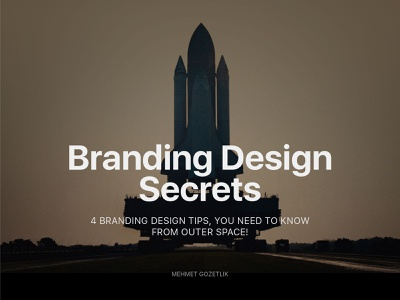 Branding Design Secrets outerspace nasa spacex space design tips tips video youtube tutorial logotype branding design brand identity branding