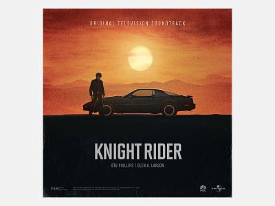 Alternate Cover Knight Rider vinyl vintage retro sountrack score knight rider television album art music art