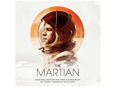 Alternate Cover for the Martian avant garde gotham typography white martian soundtrack art album