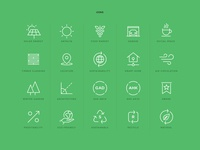 Sustainable Home Icons