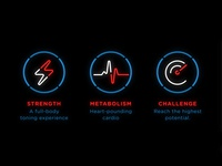Neon Icons for Futuristic Fitness Studio
