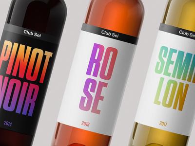 Club Sei Wine color vibrant vivid typogaphy identity identity design package design
