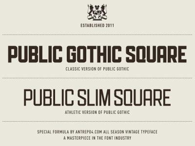 Athletic version of Public Gothic by Mehmet Gozetlik on Dribbble
