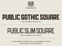 Athletic version of Public Gothic