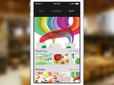 Gift for Starbucks 3.0 ios7 ios starbucks bryanjclark gift gift cards