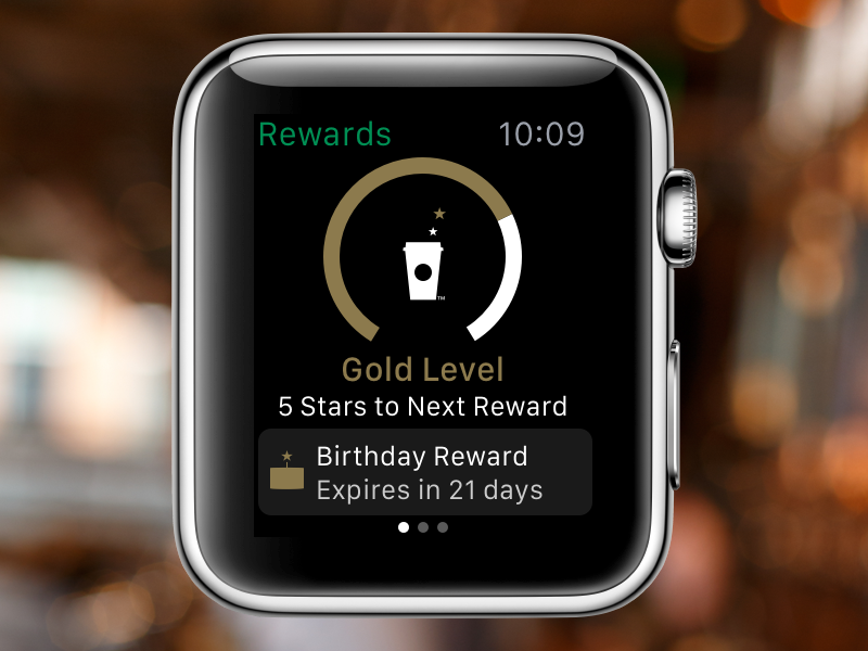Starbucks Rewards on Apple Watch ios apple-watch watch starbucks