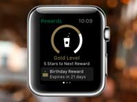 Starbucks Rewards on Apple Watch
