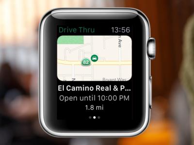 Starbucks Store Finder on Apple Watch