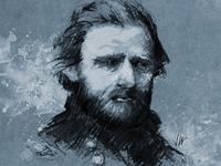 Ulysses Grant Portrait Illustration