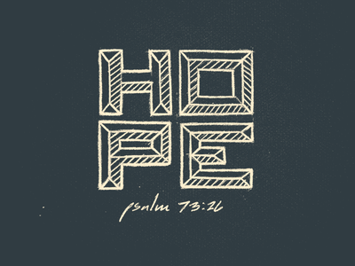 Ps 73:26 church psalm hope scripture drawing graphite pencil lettering hand made