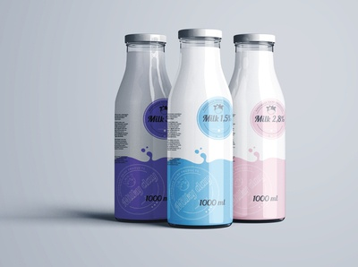 Dairy products - logo design and branding package design branding vector logo design