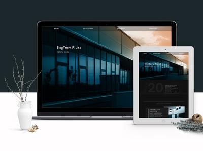 Architecture office - website design dark ui minimalism sitebuilding webdesign design