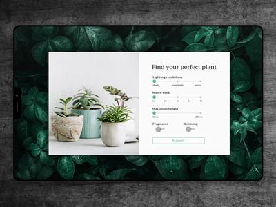 Daily UI challenge - Day 004 green plants plant calculator design calculator dailyui004 daily ui 004 animation daily ui dailyui vector design