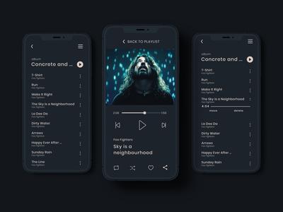 Daily UI Challenge - Day009 music music player dark ui minimal daily ui dailyui