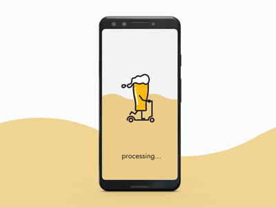 Daily UI Challenge - DAY011 scooter roller beer animation vector design