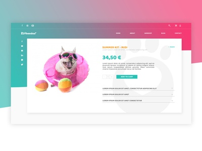 Daily UI Challenge - DAY012 summer ecommerce webshop pet puppy dog bright color gradient color ui vector logo branding dailyui daily ui design