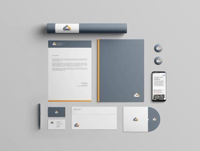 Logo and corporate identity rebranding corporate design corporate identity minimal branding logo vector design