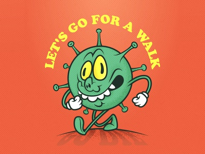 Stay home. stayhome covid-19 virus coronavirus character design retro old school oldstyle cartoonstyle cartoon character cartoon 1930s 1930