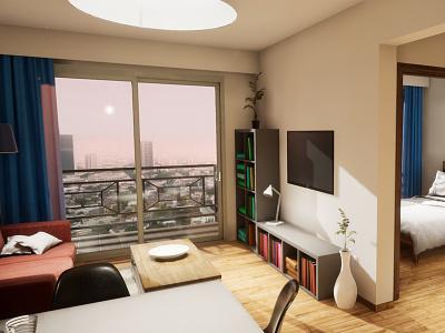 One-bedroom Apartament | visualization #01 architecture interior architecture architectural visualization unreal engine 4 archvis