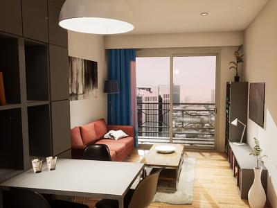 One-bedroom Apartament | visualization #02 architecture interior architecture archvis unreal engine 4 architectural visualization