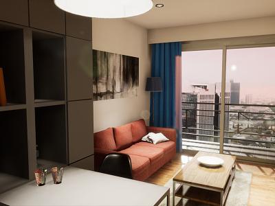One-bedroom Apartament | visualization #03 archvis architecture interior architecture unreal engine 4 architectural visualization