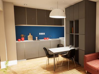 One-bedroom Apartament | visualization #04 archvis architecture interior architecture unreal engine 4 architectural visualization