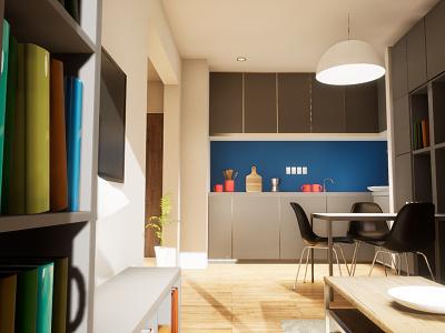 One-bedroom Apartament | visualization #05 archvis architecture interior architecture unreal engine 4 architectural visualization