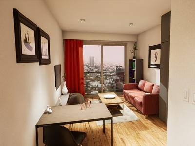 Studio Apartament | visualization #01 unreal engine 4 interior architecture archvis architecture architectural visualization