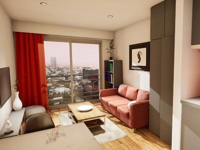 Studio Apartament | visualization #02 unreal engine 4 interior architecture archvis architecture architectural visualization