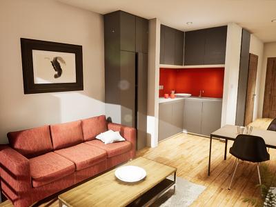 Studio Apartament | visualization #03 unreal engine 4 interior architecture archvis architecture architectural visualization