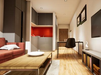Studio Apartament | visualization #04 unreal engine 4 interior architecture archvis architecture architectural visualization