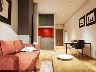 Studio Apartament | visualization #06 unreal engine 4 interior architecture archvis architecture architectural visualization