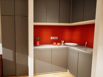 Studio Apartament | visualization #07 unreal engine 4 interior architecture archvis architecture architectural visualization